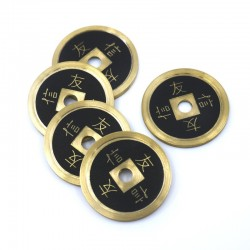 Set 4+1 Monedas Chinas Bronce