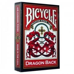 Baraja Bicycle Dragon Back Roja